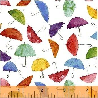 Rain or Shine White Umbrellas by Windham