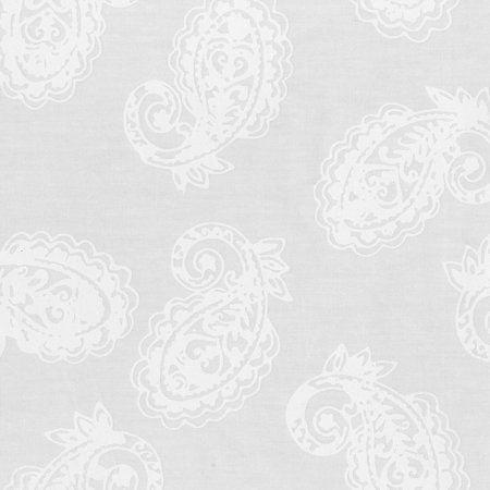 White Whisper Paisley Batik by Anthology