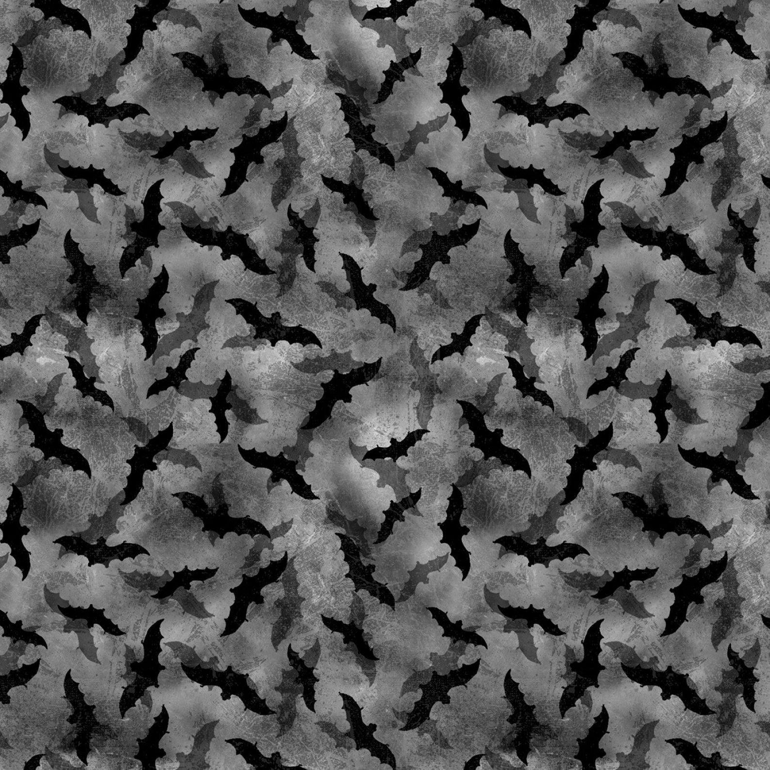 Frightful Night Bats All Over Black