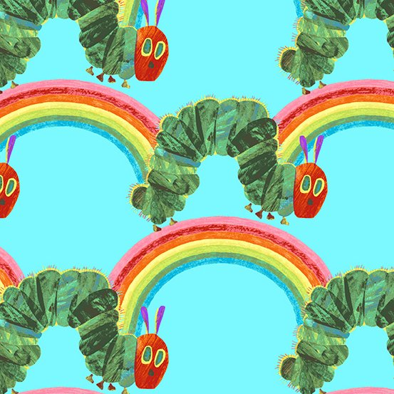 THE HUNGRY CATERPILLAR BRIGHT Teal Rainbow