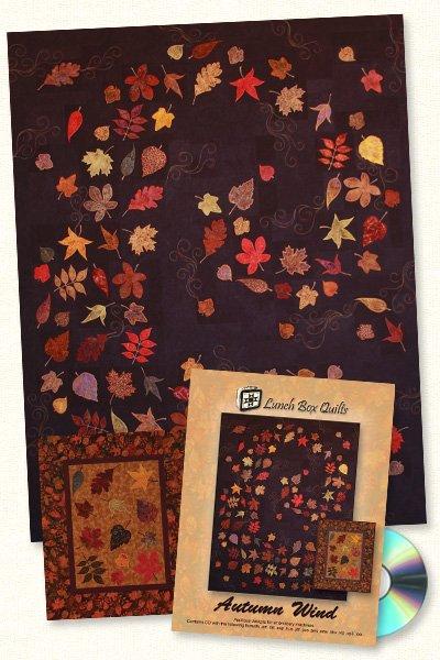 Autumn Wind-Machine Embroidery