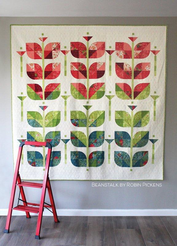 Painted Meadow Beanstalk Pattern