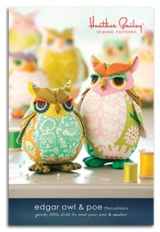 Edgar Owl & Poe Pincushion Kit - Heather Bailey
