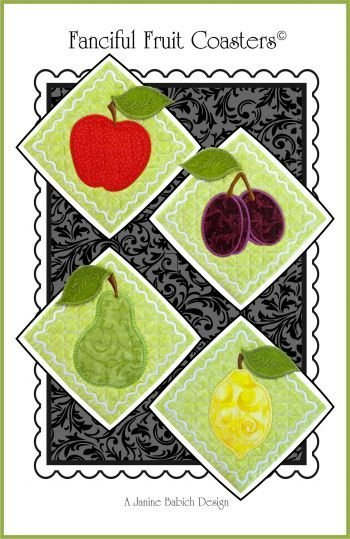 FANCIFUL FRUIT COASTERS