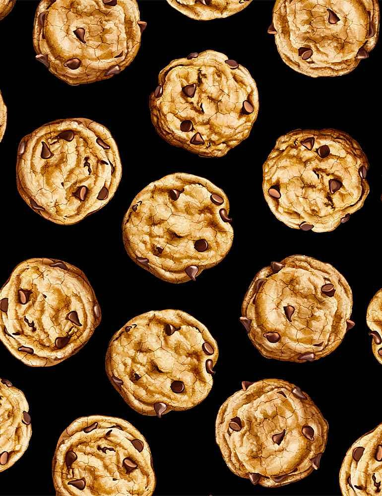 Tossed Realistic Cookies - Black