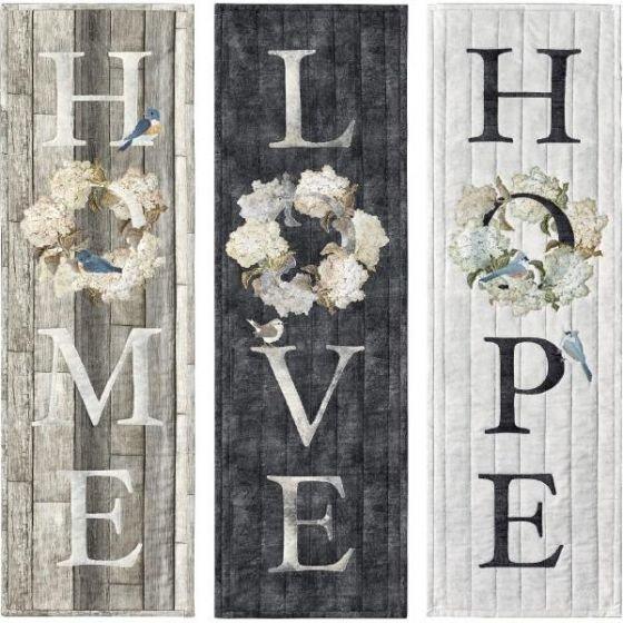 Home, Love, Hope Wallhangings Kit by McKenna Ryan
