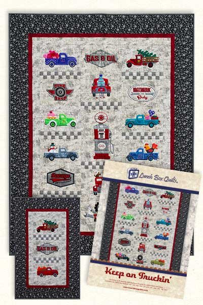 Keep on Trucking Embroidery Pattern by Lunch Box Quilts