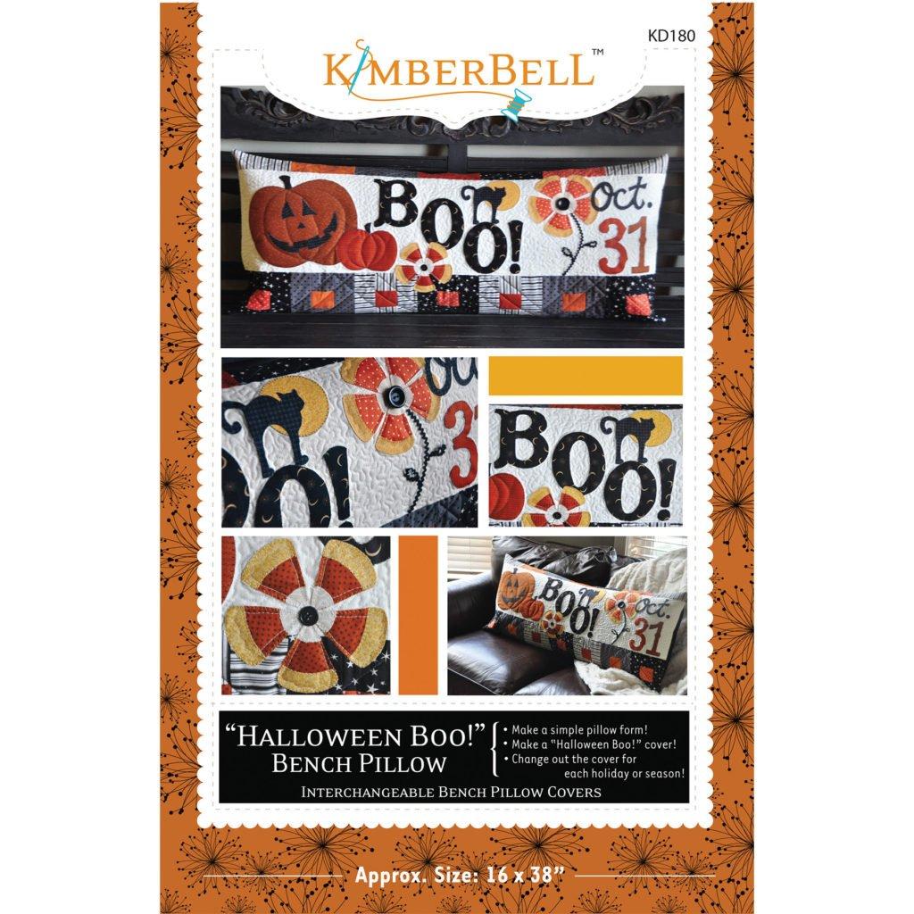 KIMBERBELL HALLOWEEN BOO! BENCH PILLOW