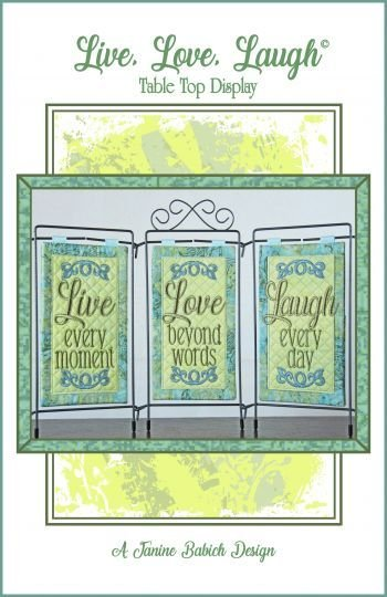 LIVE, LOVE, LAUGH, TABLE TOP DISPLAY