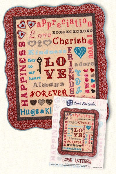 Love Letters-Machine Embroidery