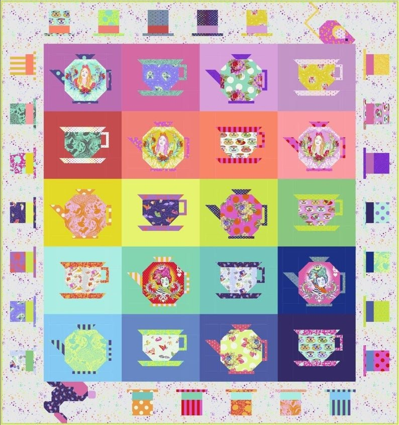 MAD HATTER'S TEA PARTY QUILT KIT BY TULA PINK