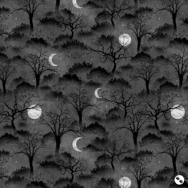 Frightful Night Trees & Moon Black