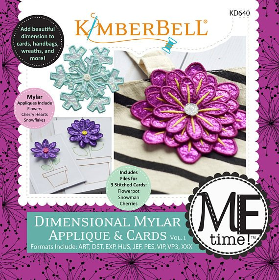 DIMENSIONAL MYLR APPLIQUE & CARDS BY KIMBERBELL