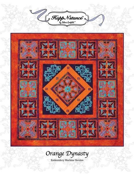 Orange Dynasty for Machine Embroidery