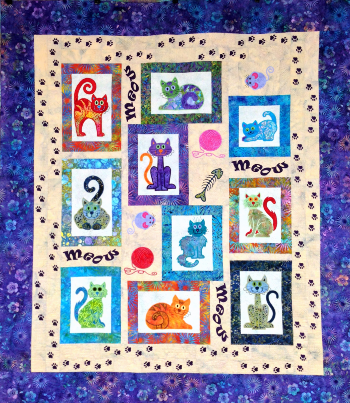 Cat's Meow Fabric Quilt Kit : lunch box quilts cats meow - Adamdwight.com