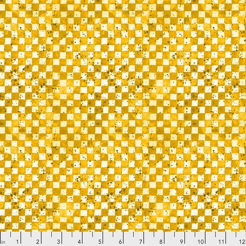 Color Labyrinth by Free Spirit Checkerboard Yellow