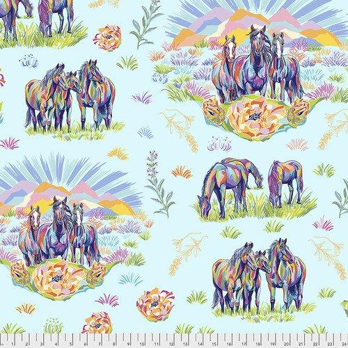 Calico Horses Calico Messengers - Aqua