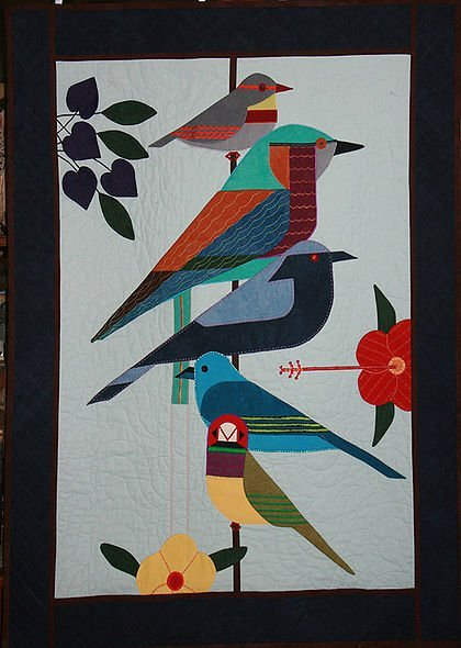 Rainforest Birds by  Charley Harper's Quilts