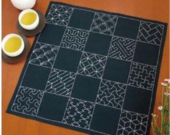 Sashiko Kit-Multi Pattern by Quilting Foxes