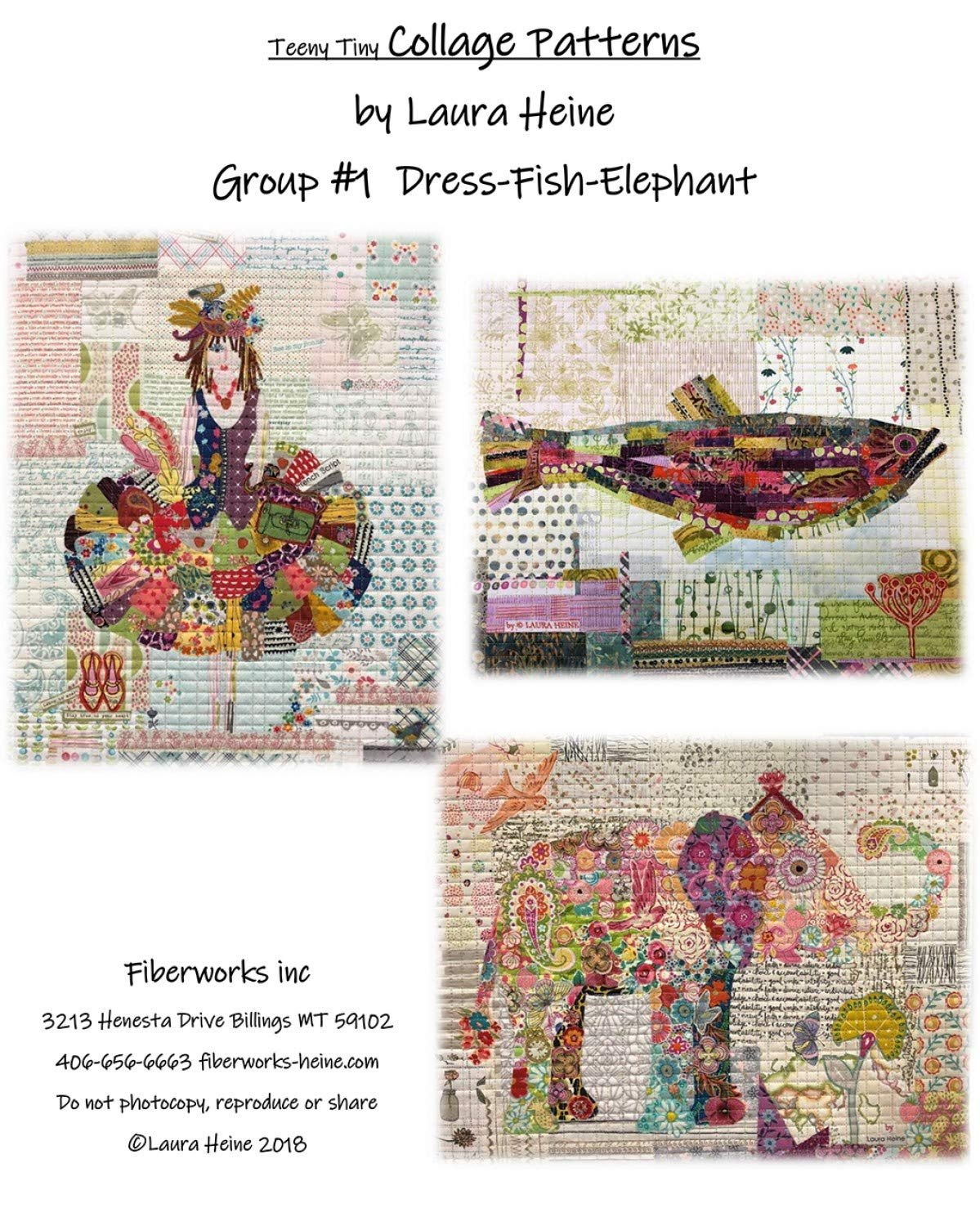 TEENY TINY COLLAGE PATTERNS GROUP 1 - LAURA HEINE