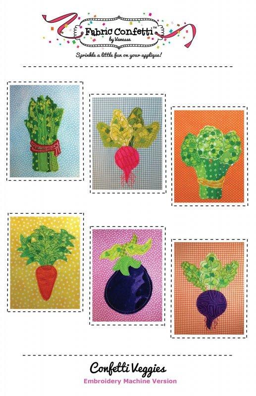 Confetti Veggies-Machine Embroidery