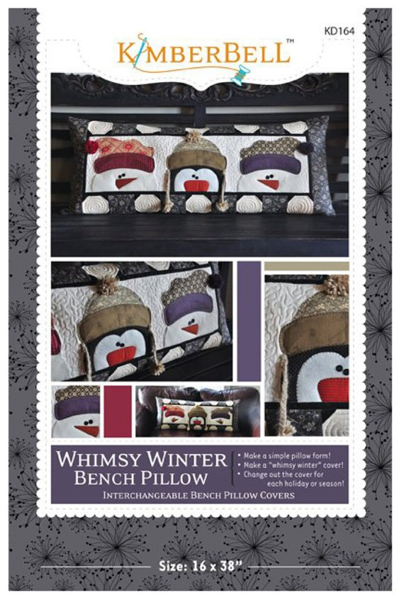 KIMBERBELL WIHIMSY WINTER BENCH PILLOW