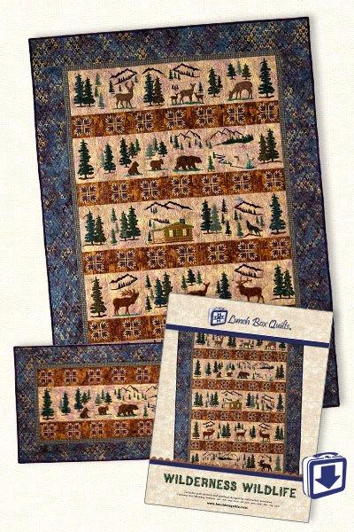 Wilderness Wildlife-Machine Embroidery