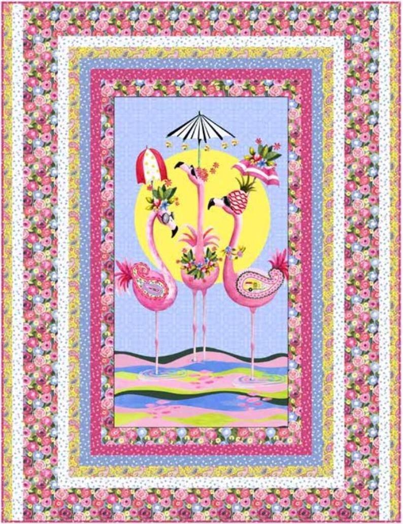 Flamingo Fantastico Kit - Includes Backing Fabric