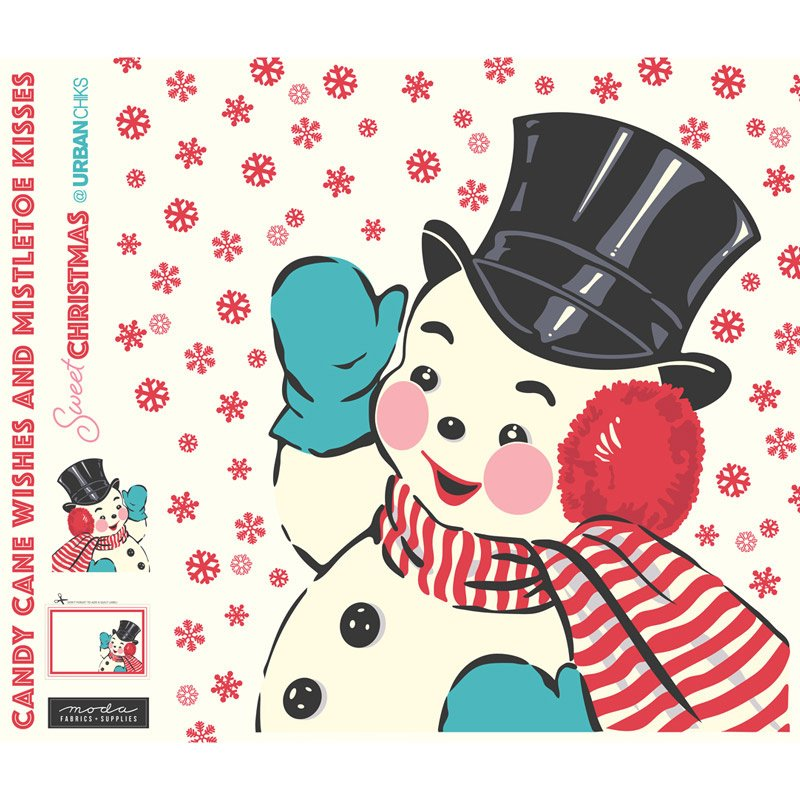 Sweet Christmas Snowman Panel