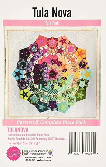 Paper Piece Pack for Tula Nova Complete Set Pattern Included