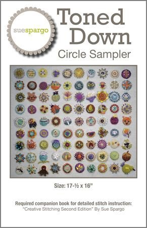 Toned Down Circle Sampler Pattern by Sue Spargo