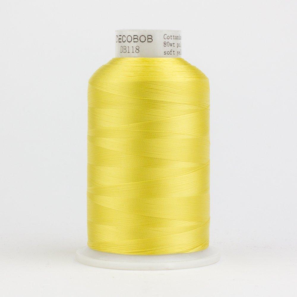 DecoBob Soft Yellow DB118 80wt Thread by Wonderfil 2187 yd