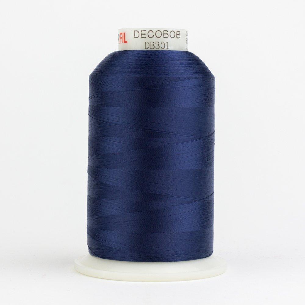 DecoBob Navy DB301 80wt Thread by Wonderfil 2187 yd