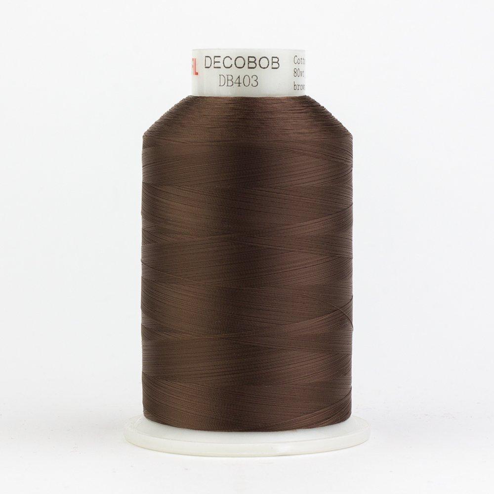 DecoBob  Brown DB403 80wt Thread by Wonderfil 2187 yd