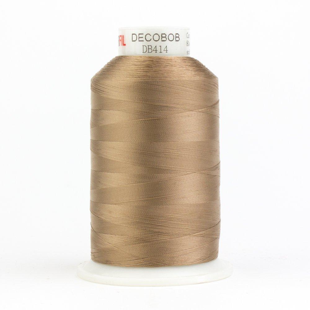 DecoBob  Soft Tan DB414 80wt Thread by Wonderfil 2187 yd