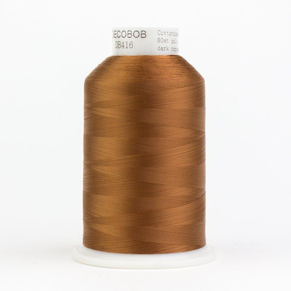 DecoBob  Dark Copper DB416 80wt Thread by Wonderfil 2187 yd