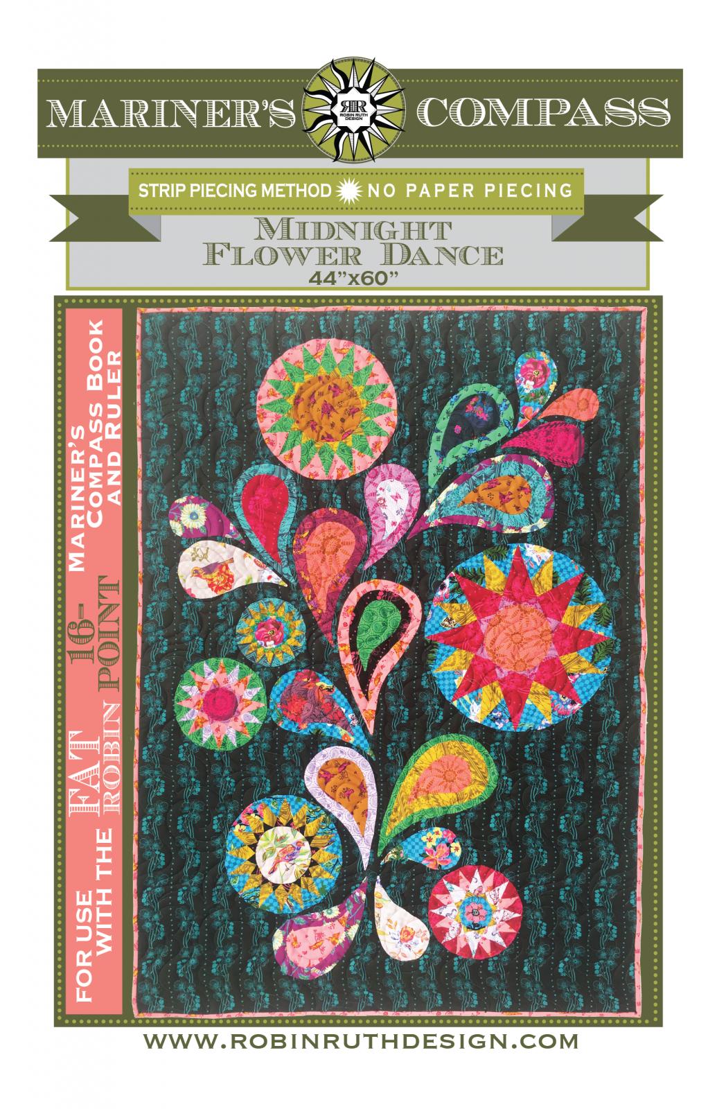 Midnight Flower Dance Pattern by Robin Ruth Design