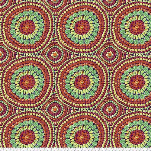Fruit Mandala Red 108 inch Wide Back Fabric QBGP003.2RedX