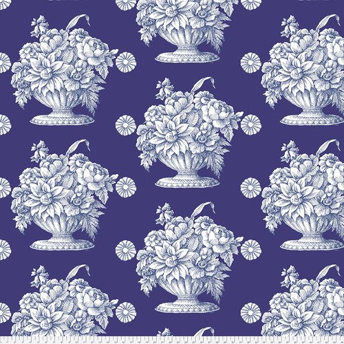 Stone Flower Royal 3 Yard Precut 108 inch Wide Back Fabric