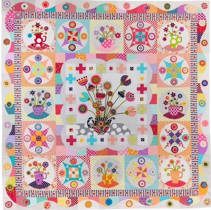 Tea Party Quilt Pattern by Wendy Williams of Flying Fish Kits
