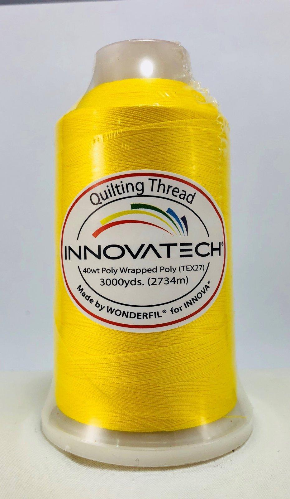 INNOVATECH THD3012 Yellow Thread 3000 Yard Cone