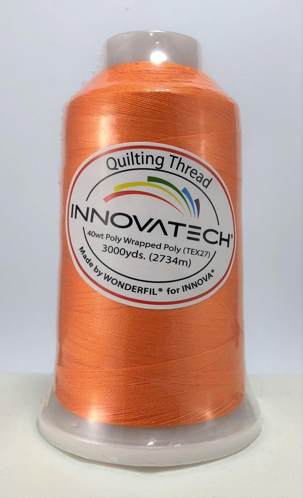 INNOVATECH THD3013 Orange Thread 3000 Yard Cone