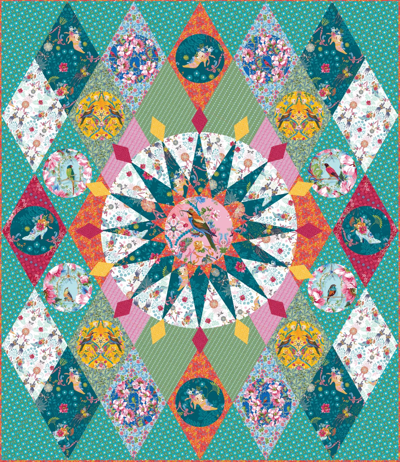 The Queen's Dream Quilt Kit for Jardin de la Reine by Odile Bailloeul