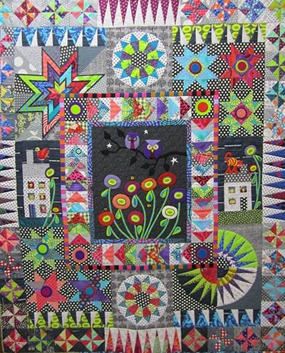 Urban Owls Quilt Pattern by Wendy Williams of Flying Fish Kits
