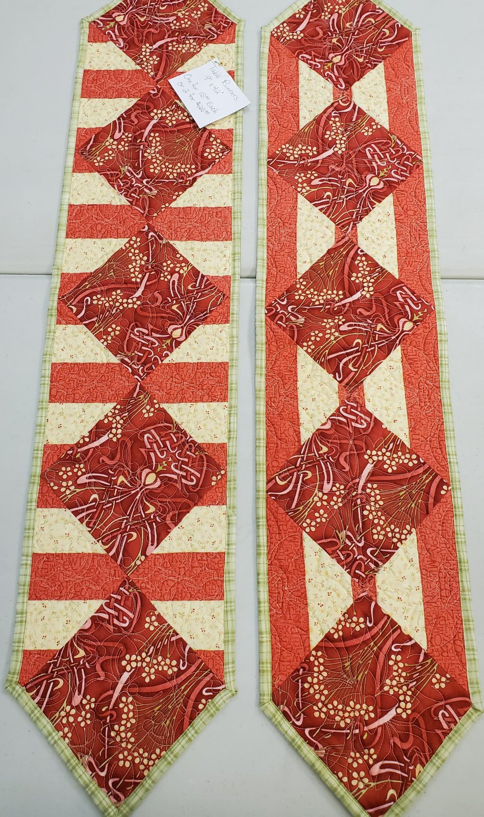 Two for the Price of One Table Runners