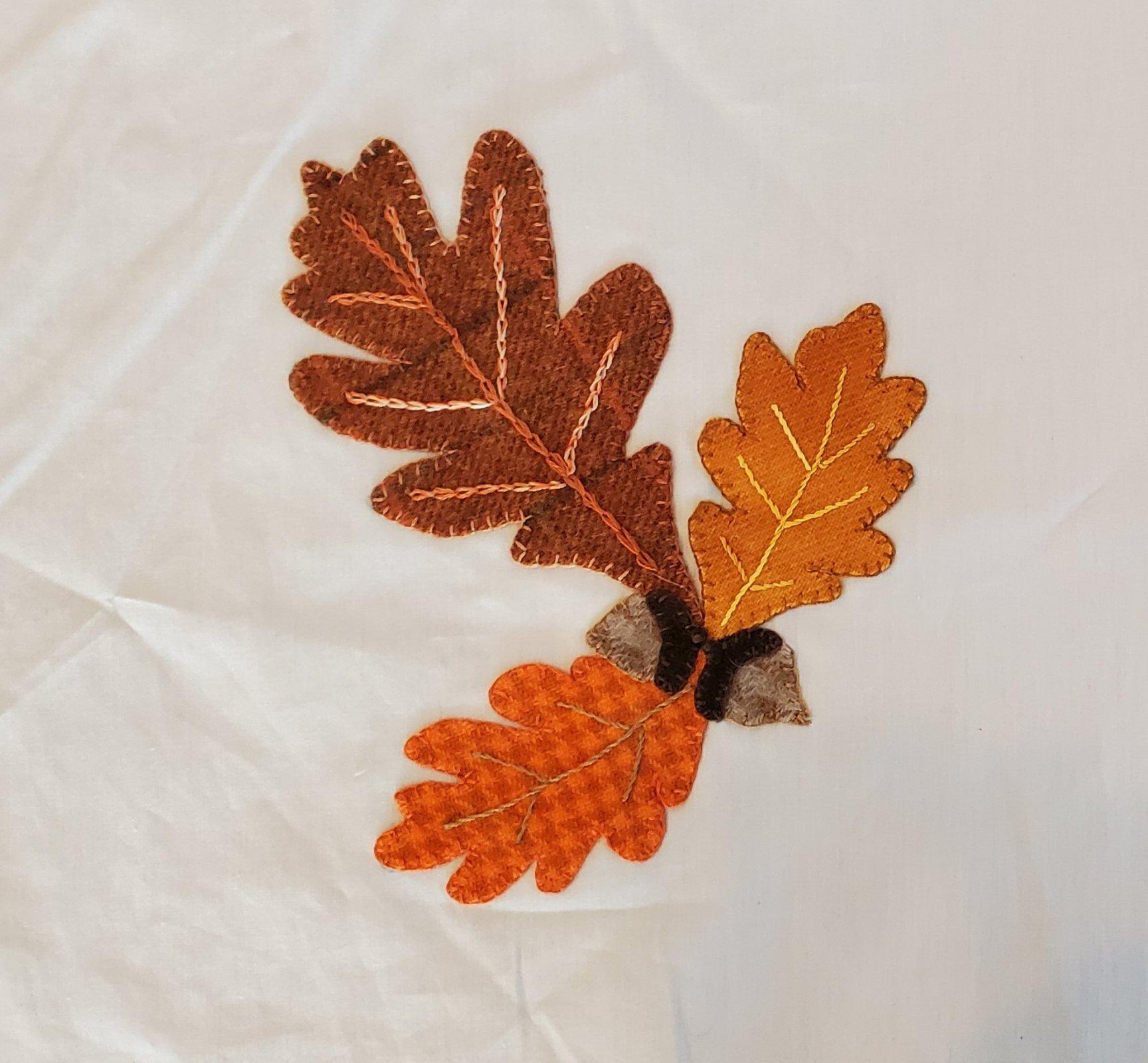 Fall Under the Spell Oak Leaves-Wool Kit