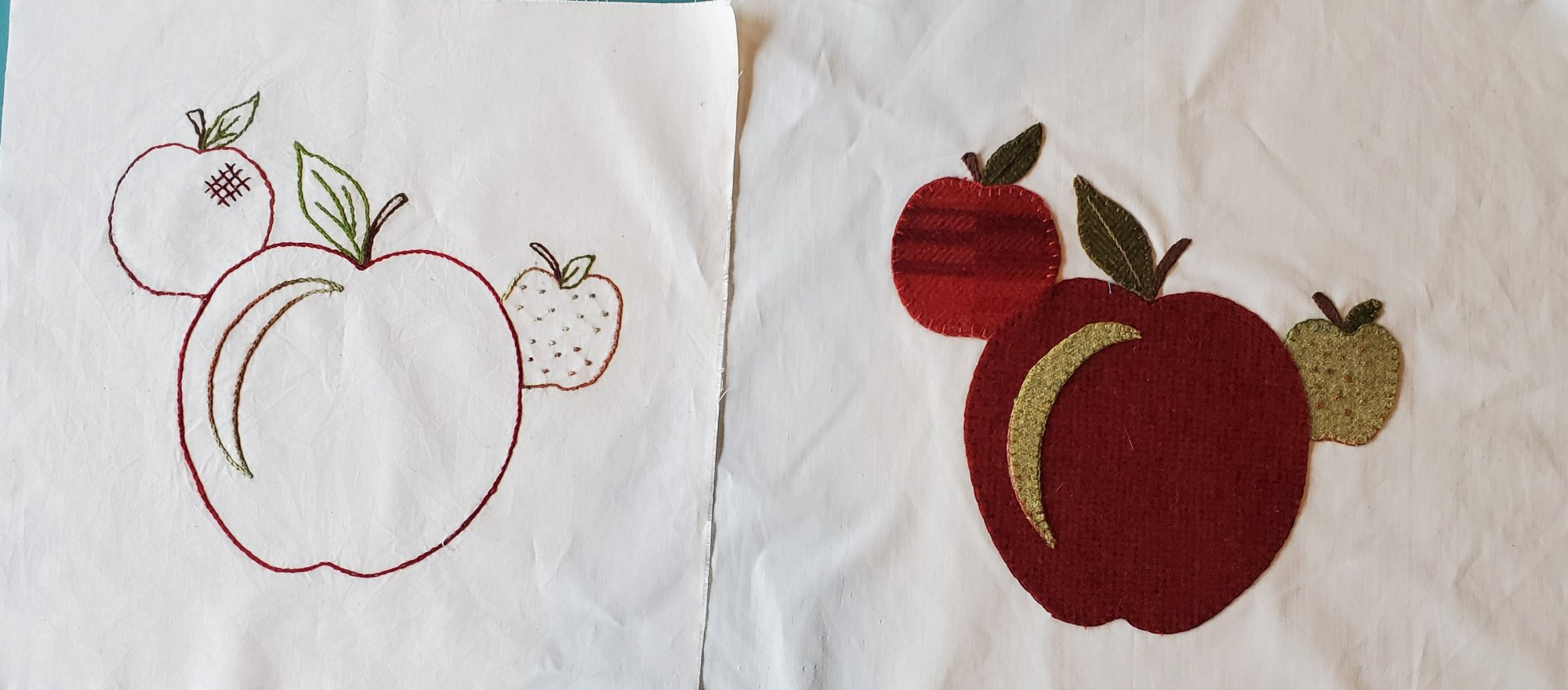Fall Under the Spell  Block of the Month Apple Applique Kit