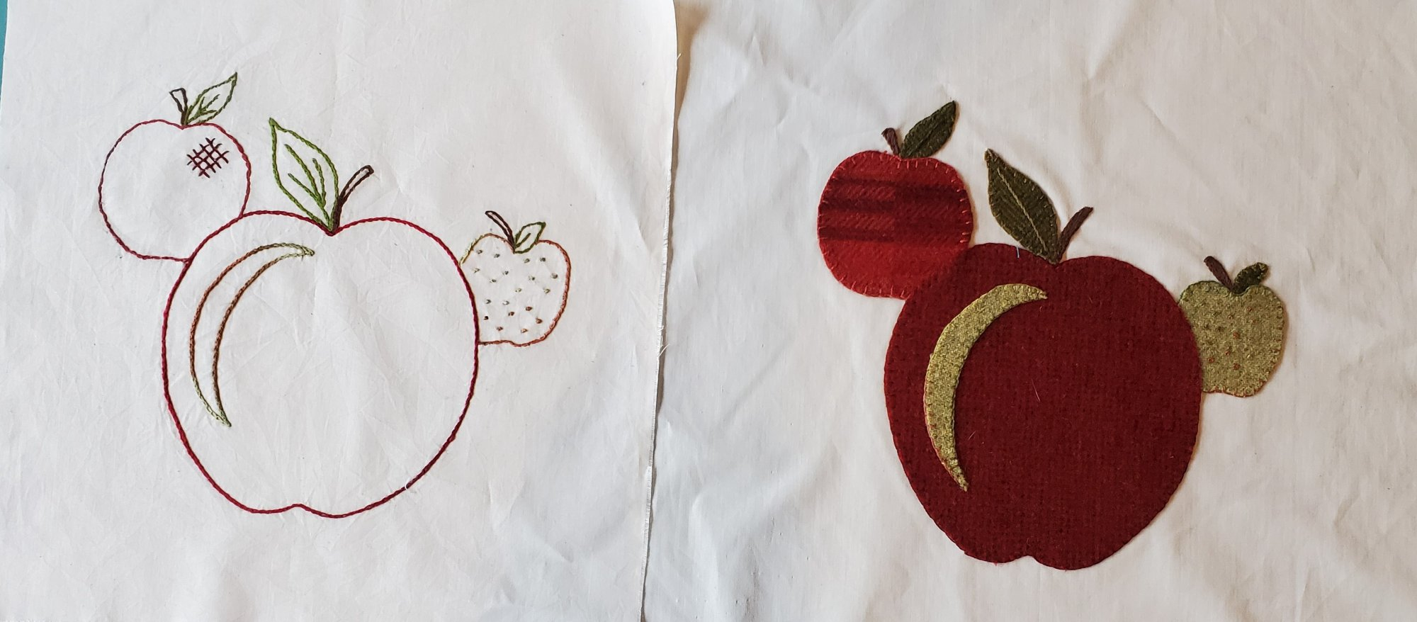 Fall Under the Spell Block of the Month Apples Hand Embroidery/Hand Applique Pattern