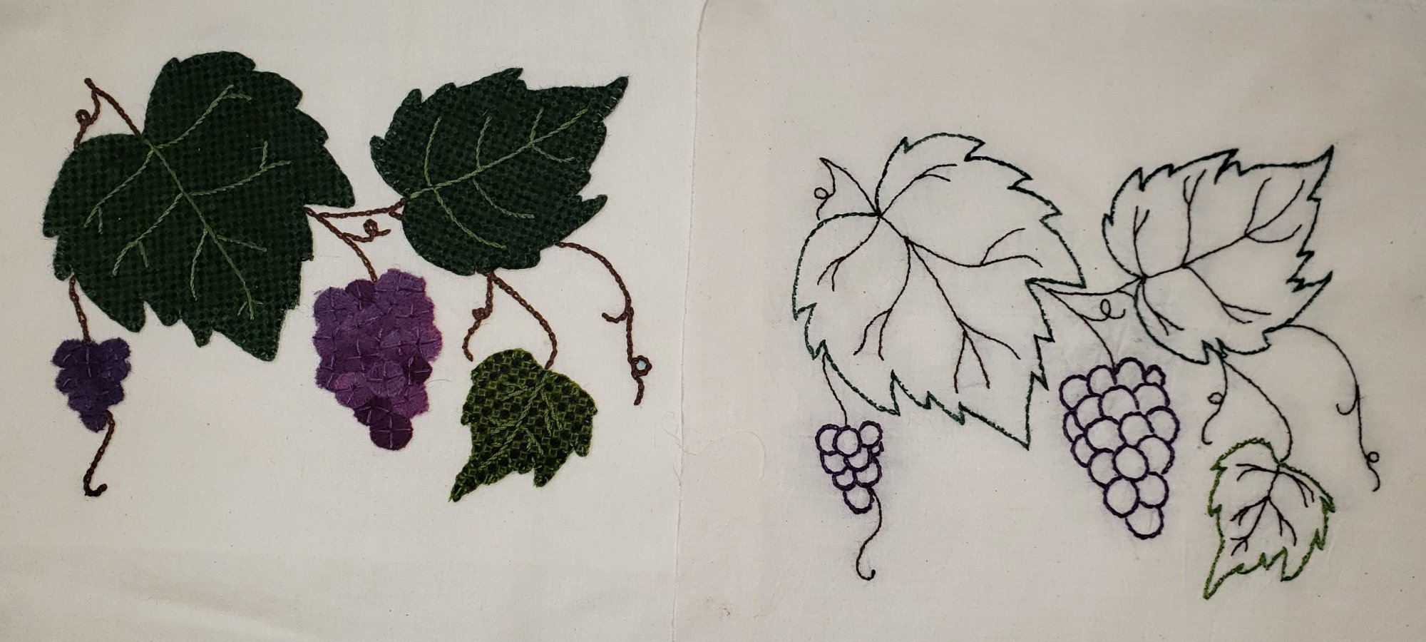 Fall Under the Spell Block of the Month Grapes Pattern