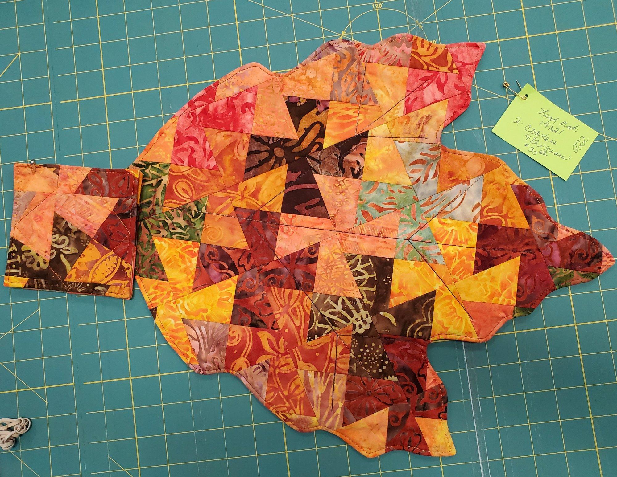 Leaf :Mat and Coasters